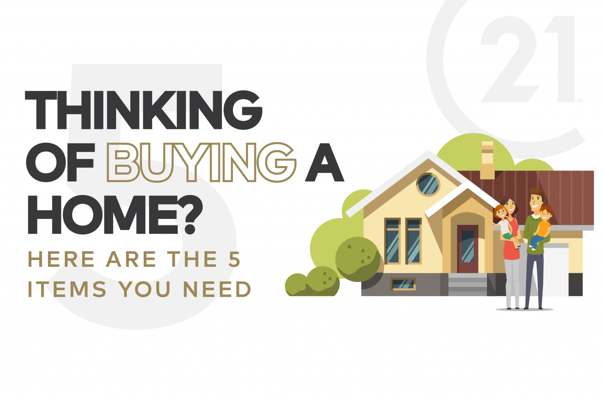 5 Things You Need To Buy a Home